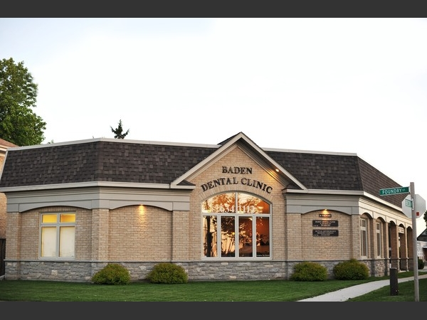 Baden Dental Clinic is located at  the corner of Foundry and Beck St in the heart of Baden, Ontario